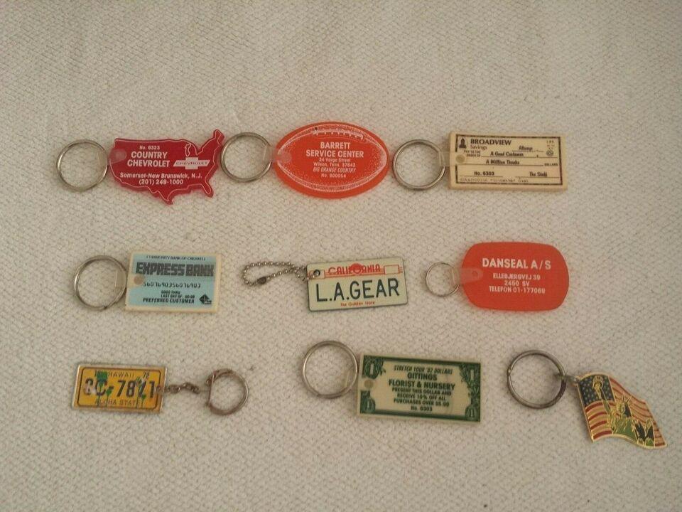 Nøgleringe, Amerikanske, retro 15 stk