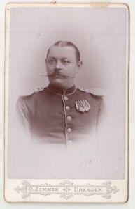 CdV-Foto-Soldat-Orden-Epauletten-1894-Dresden-Sachsen-F2511