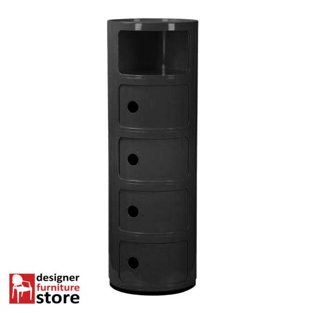 Replica Componibili Round Cabinet (5 Tier) - Black