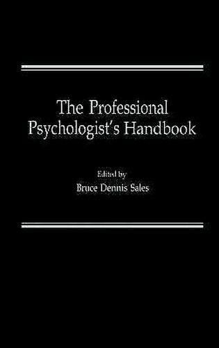 The Professionell Psychologist's Handbuch Hardcover Bruce Dennis Sales
