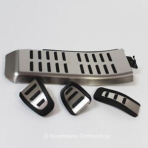 original audi pedalset pedale edelstahl pedalkappen audi. Black Bedroom Furniture Sets. Home Design Ideas
