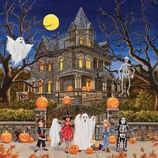 SUNSOUT JIGSAW PUZZLE BEWARE HAUNTED HOUSE WILLIAM VANDERDASSON 1000 PCS #30425