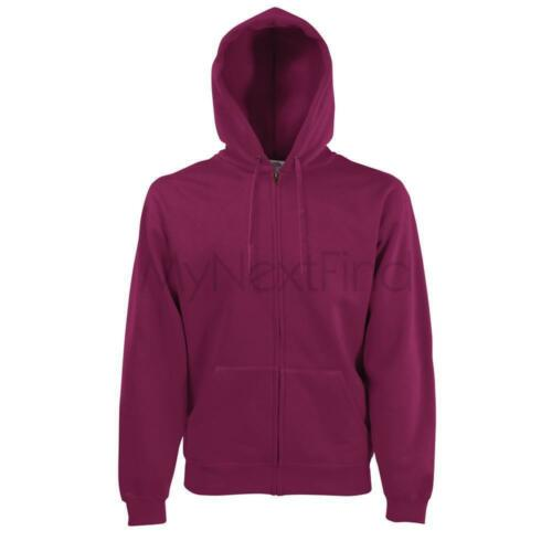 Fruit of the Loom Premium 70//30 Hoodie Hooded Sweatshirt Jacket