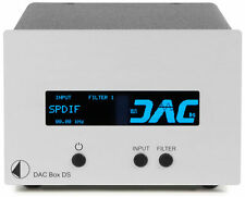 PRO-JECT DAC BOX DS CONVERTITORE D/A SILVER NUOVO GARANZIA UFFICIALE