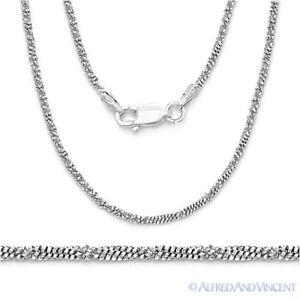 4860b1ef4ef044 925 Sterling Silver & Rhodium 1.7mm Roc-Link Twist-Rope Italian ...