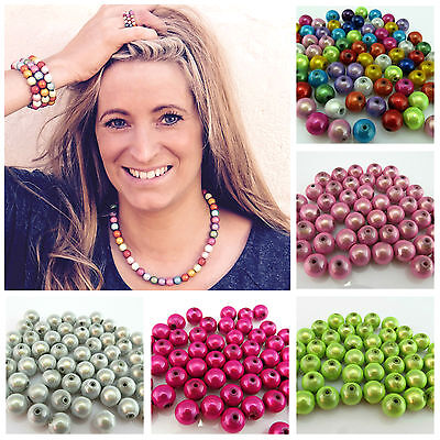 Acrylic Round Beads 8mm Lilac 50 Pcs Miracle Art Hobby Jewellery Making Crafts