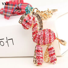 Zebra Red Horse Cute Charm Pendent Crystal Purse Bag Key Lock Chain Party Gift