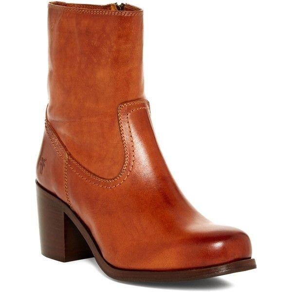 da non perdere! FRYE donna Short Leather High Heel Zip Zip Zip stivali cognac tan Marrone avvioie sz 8.5  fino al 65% di sconto