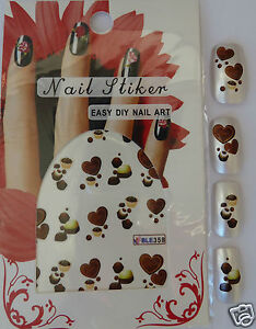 Nail Art Stickers Chocolate Water Transfer Nail Stickers Ebay