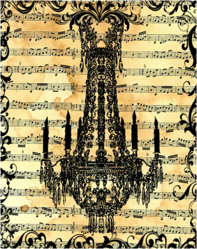 Retro Vintage Style Chandler on Musical Paper A4 Poster Music Picture Art