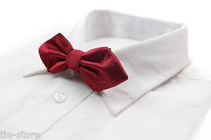 SHADES-OF-RED-DIAMOND-BOW-TIE-Mens-Pre-Tied-Wedding-Formal-Dark-Plum-Maroon