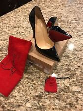 Authentic Christian Louboutin So Kate Black Patent Leather Pump Size 9.5 Euro 41