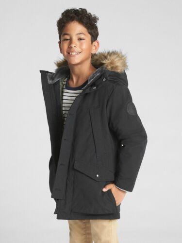NWT Gap Kids Boy/'s Cozy Parka REGULAR  #315313 E1125 6-7 New Shadow SIZE S