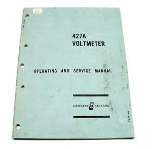 Livraison Rapide Manual Hewlett Packard Hp 427 A Vacuum Tube Voltmètre, Manuel D'utilisation & Service-icefr-fr Afficher Le Titre D'origine