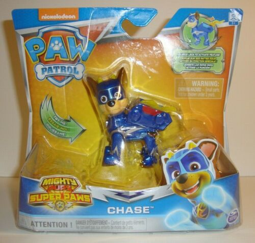 PAW PATROL MIGHTY PUPS Super Paws Chase Action Pack chiot NEUF