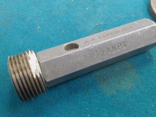 """STD A NPT Pipe Pratt Whitney Thread Plug Gage 1.0/""""-11-1//2 AM"""