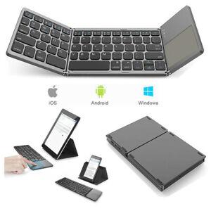 b47f119f3b3 HOT Three-fold Wireless Folding Keyboard Bluetooth 3.0 Foldable Mini ...
