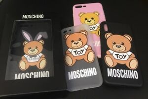 wholesale dealer 1bf9d b5fde Details about Boxed Moschino Logo Bear Case iPhone X XS Max XR 5 5s SE 7 8  7/8Plus 6 6sPlus UK