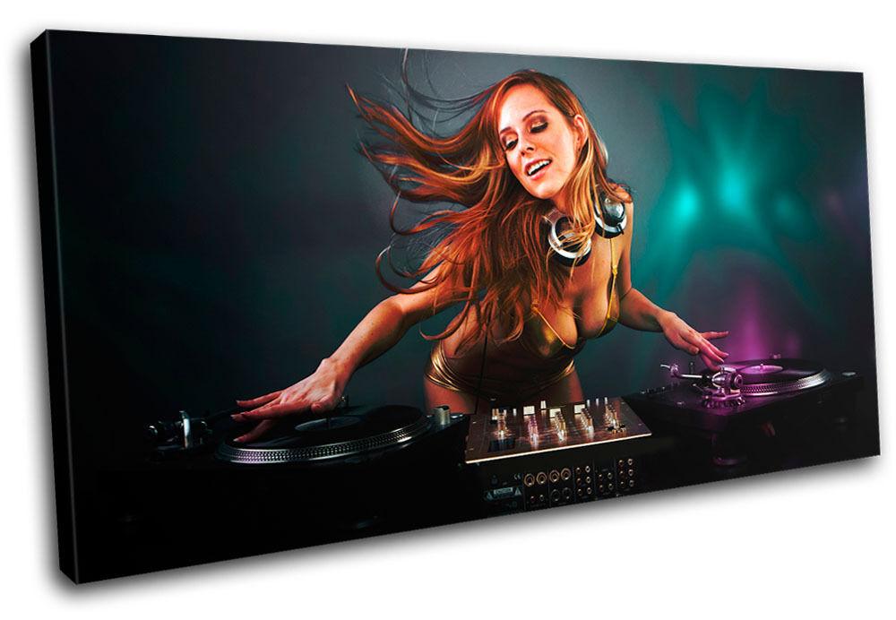 Erougeic Girl DJ Club SINGLE TOILE murale ART Photo Print