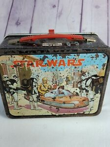 Vintage-1977-ORIGINAL-STAR-WARS-LUNCH-BOX-King-Seeley-No-Thermos-A01B