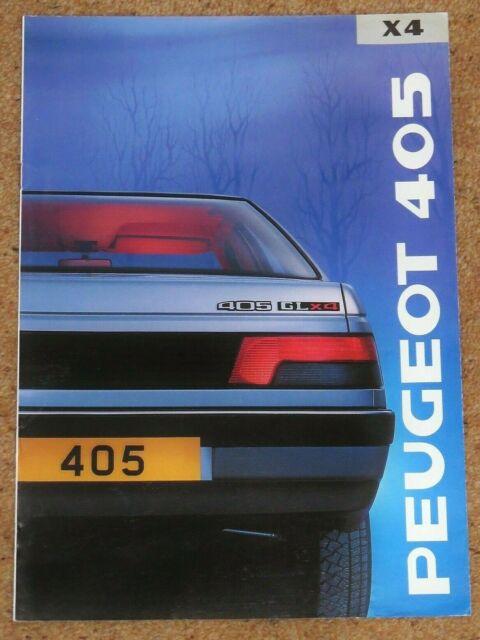 1989 Peugeot 405 Gl X 4 Sales Brochure 4wd 1 9 Model Uk Market For Sale Online Ebay