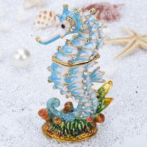 Vintage-Blue-Seahorse-Jewelry-Trinket-Boxes-Ring-Rack-Figurines-Wedding-Gifts