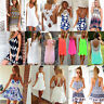 Sexy Women's Fashion Ladies Casual Sleeveless Celeb Summer Beach Club Mini Dress
