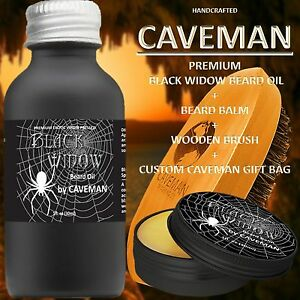 Precise Hand Crafted Caveman® Beard Oil Set Kit Beard Oil Aftershave & Pre-shave Balm Free Beard Brush
