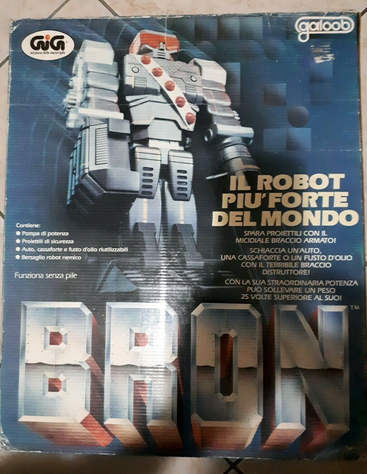 BRON il robot più forte del mondo 1984 GIG Galoob vintage Mattel
