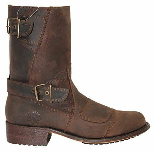 Grinders Route 66 Brown Mens Leather Boot Cowboy Western Zipped Pointed Boots
