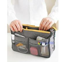 Women Travel Insert Handbag Organiser Purse Large Organizer Bag in Bag Gray MT