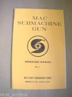 Factory Mac 10 / Mac 11 Operating Manual, M10 / M11