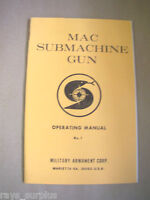 Factory Mac 10 / Mac 11 Operating Manual, M10 / M11
