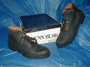 Nunn-Bush-Mens-Black-NuBuck-Leather-Chucka-Style-Boot-Size-8-1-2-M-D