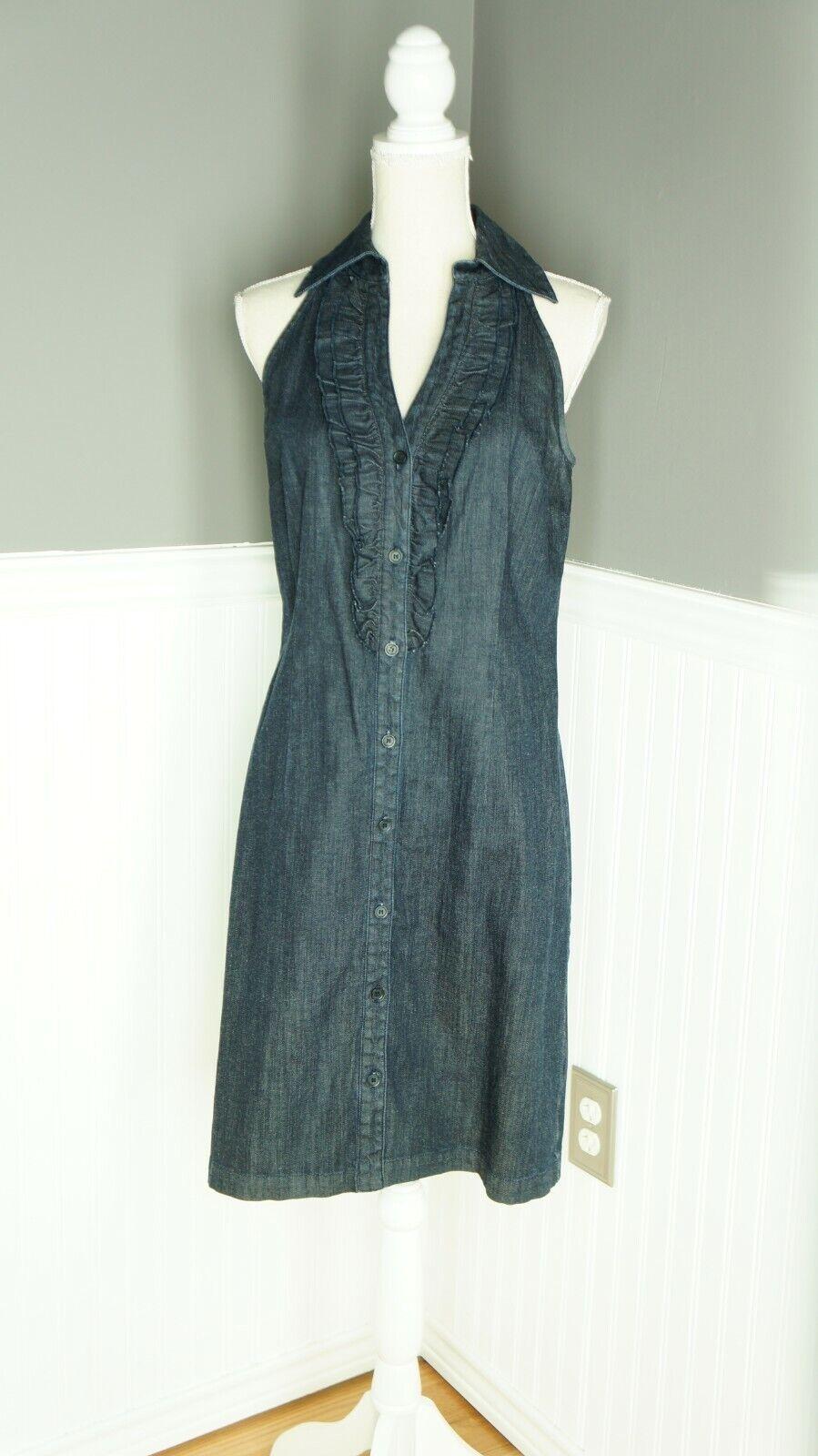 INC International Concepts Denim Midi Dress Dark … - image 1
