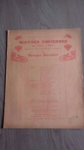 Oeuvres Antico Violino & Pianoforte Spartito G.Dandelot A M.ESCHIG 3 Persiane