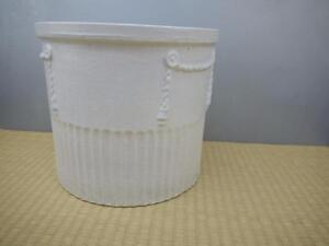 Classic White Fluted Mid Century Architectural Ceramic ART POTTERY Planter POT