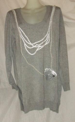 Perles Taille Pullover Lollipops Blanches Gris Tunique En Viscose Avec L a7TqYwa