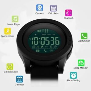Waterproof-Men-039-s-Sports-Smart-Movement-Watch-Phone-Mate-For-Apple-iOS-Android
