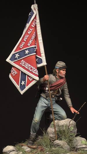 Beneito Confederate Soldier Little Round Top 1863 54mm Unpainted kit
