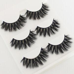 3-Pairs-Natural-Fashion-Handmade-Real-Mink-3D-False-Eyelashes-Thick-Long-Lashes