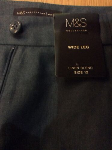 NEW M/&S Collection Linen Blend Ladies Trousers