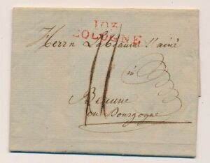 LETTRE-DEP-CONQUIS-103-COLOGNE-ROUGE-TAXE-BEAUNE-COTE-D-039-OR-COVER-GERMANY