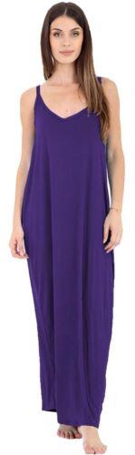 Womens Plus Size Camisole Strappy Lagenlook Baggy Italian Drape Maxi Dress 8-26