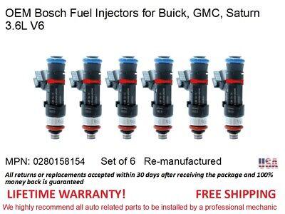 Vue 3.0L V6 Bosch OEM Fuel Injector Set of 6-0280156080 *Lifetime Warranty*