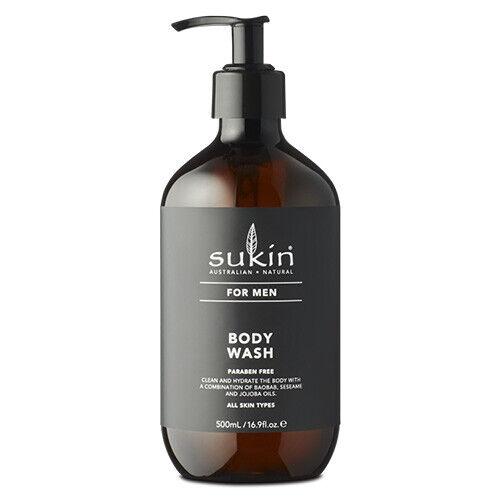 NEW Sukin Men's Body Wash - 500mL