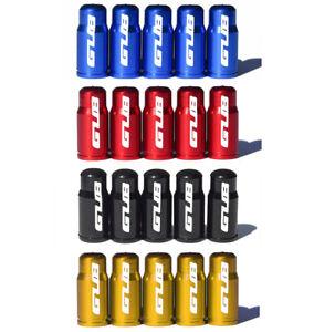 Aluminum Red Presta Valve Caps for Road Bike Tubes