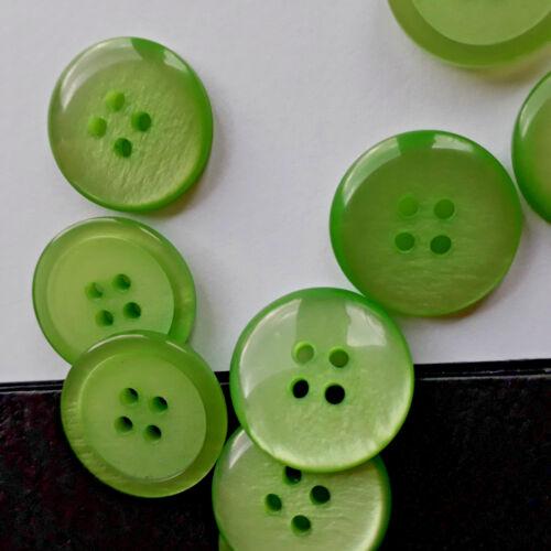 Vestes chemises boutons 4 trous vert tons Boutons BUTTONS BOTONES düğmeler кнопки
