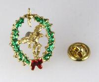 6030270 Guardian Angel Christmas Wreath Lapel Pin Christian Tie Tack Brooch on sale