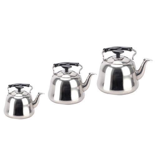 Sifflement bouilloire à thé café Théière Cuisine camping en acier inoxydable avec infuseur